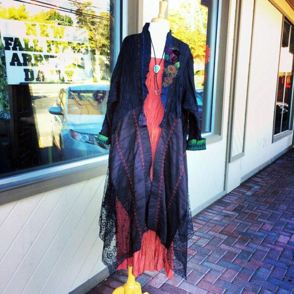 Lee Andersen 2 pc set dress and long jacket.