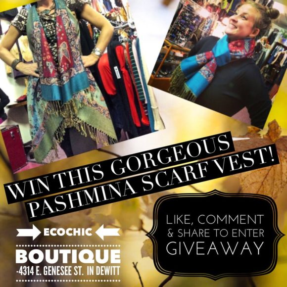 Win this gorgeous vest/scarf!