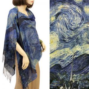 Starry Night Cotton Touch Shawl/Scarf