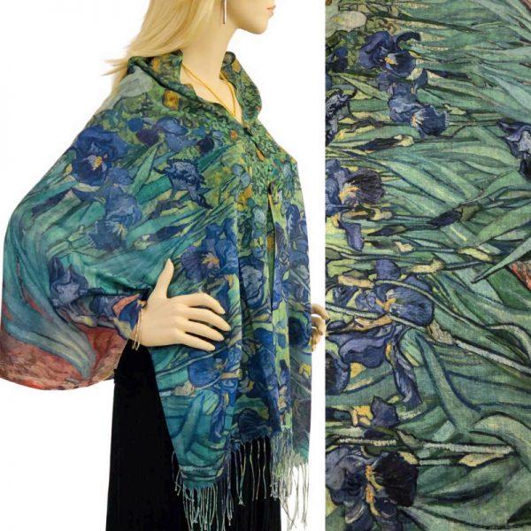 Iris Cotton Touch Shawl/Scarf