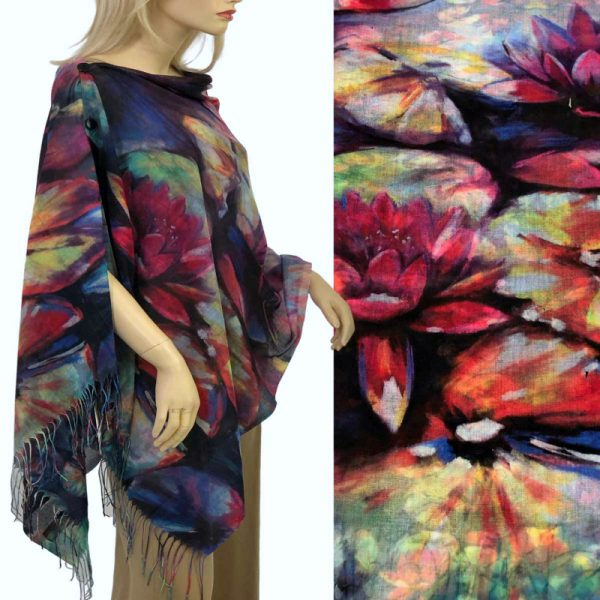 Pink Lilly Cotton Touch Shawl/Scarf