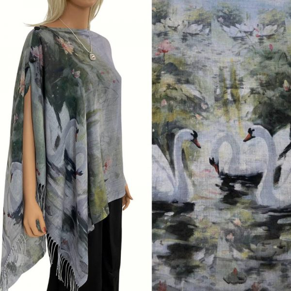 White Swan Cotton Touch Shawl/Scarf