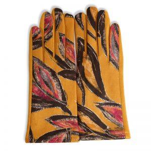Saffron Leaves Fleece-Lined Smart Gloves